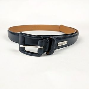 RALPH LAUREN Navy Leather Belt